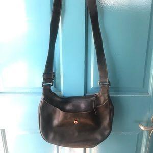 Leather vintage LONGCHAMP  black crossbody
